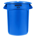 Rubbermaid BRUTE 32 Gallon Blue Trash Can and Lid