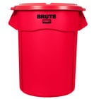 Rubbermaid BRUTE 20 Gallon Red Trash Can and Lid