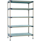 Metro 5X347G4 MetroMax 4 Grid 5-Shelf Stationary Shelving Unit - 18 inch x 42 inch x 74 inch