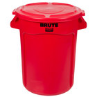 Rubbermaid BRUTE 32 Gallon Red Trash Can and Lid