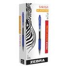 Zebra 46820 Sarasa Blue Ink with Transparent Blue Barrel 0.7mm Retractable Roller Ball Gel Pen - 12/Pack