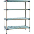 Metro X516G4 MetroMax 4 Grid 4-Shelf Stationary Shelving Unit - 24 inch x 24 inch x 63 inch