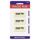 Prismacolor 70503 Magic Rub White Vinyl Eraser - 3/Pack