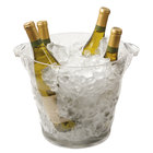 Franmara 9041 Monterey Quattro Clear Customizable Acrylic Wine Cooler - 10 7/8 inch x 9 7/8 inch