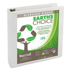Samsill 16957 Earth's Choice White Biobased View Binder with 1 1/2 inch D Rings