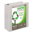 Samsill 16987 Earth's Choice White Biobased View Binder with 3 inch D Rings