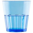 Diamond 8 oz. Blue Polycarbonate Rocks Glass Tumbler - 12/Pack