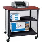 Safco 1858BL Impromptu Black / Cherry Deluxe Machine Stand with Shelf - 34 3/4