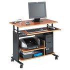 Safco 1927CY Cherry / Black 35 1/2 inch x 22 inch Adjustable Height Mini-Tower Workstation