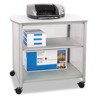 Safco 1858GR Impromptu Gray Deluxe Machine Stand with Shelf - 34 3/4