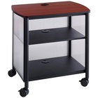 Safco 1857BL Impromptu Black / Cherry Machine Stand with Shelf - 26 1/4