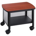 Safco 1862BL Impromptu Black / Cherry Under Table Printer Stand - 20 1/2