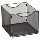 Safco 2173BL Onyx 12 1/2 inch x 14 inch x 10 inch Black Mesh Steel Mesh File Storage Box - 2/Pack