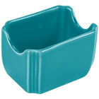 Fiesta Tableware from Steelite International HL479107 Turquoise 3 1/2 inch x 2 3/8 inch China Sugar Caddy - 12/Case