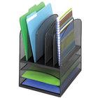 Safco 3266BL Onyx 11 1/2 inch x 9 1/2 inch x 13 inch Black 8 Section Mesh Desktop Organizer