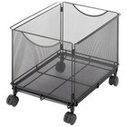 Safco 5211BL Onyx Black Mesh Mobile File Cube - 13 1/2 inch x 16 3/4 inch x 13 inch