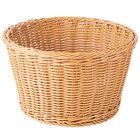 GET WB-1521-HY Designer Polyweave 12 inch x 7 inch Honey Plastic Round Basket - 6/Case