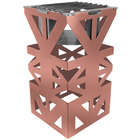 Eastern Tabletop 1743CP LeXus 8 inch x 8 inch x 15 inch Copper Coated Steel Cube with Grate and Fuel Shelf