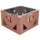 Eastern Tabletop 1741CP LeXus 8 inch x 8 inch x 5 inch Copper Coated Steel Cube with Grate and Fuel Shelf