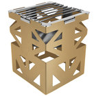 Eastern Tabletop 1742RZ LeXus 8 inch x 8 inch x 10 inch Bronze Coated Steel Cube with Grate and Fuel Shelf