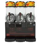 Cecilware FrigoGranita NHT3ULBL Triple 2.5 Gallon Bowl Pourover Granita Dispenser with Black Finish