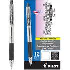 Pilot 32210 EasyTouch Black Ink with Translucent Barrel 0.7mm Ballpoint Retractable Pen - 12/Pack