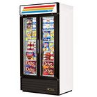 True GDM-35F-LD White Glass Swing Door Merchandiser Freezer with LED Lighting - 35 Cu. Ft.