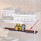Bakers Pride 21840846 Ultimate Outdoor Charbroiler Stainless Steel Under Shelf