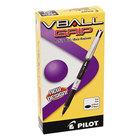 Pilot 35570 VBall Grip Black Ink with Black / Silver Barrel 0.7mm Roller Ball Stick Pen - 12/Pack