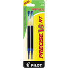 Pilot 77274 Precise V5 RT Blue Ink Extra-Fine Point Rolling Ball Retractable Pen Refill   - 2/Pack