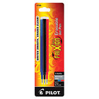Pilot 77335 FriXion Assorted Ink Fine Point Erasable Retractable Roller Ball Gel Pen Refill - 3/Pack