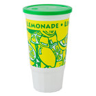32 oz. Lemonade Economy Car Cup with Green Lid - 504/Case