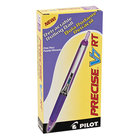 Pilot 26071 Precise V7RT Purple Ink with Purple Barrel 0.7mm Roller Ball Retractable Pen - 12/Pack