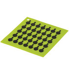 Lodge AS7S51 6 7/8 inch x 6 7/8 inch Green Silicone Trivet
