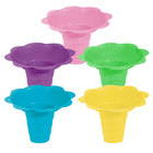 12 oz. Assorted Color Flower-Shaped Sno-Cone Cup - 400/Case