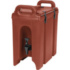 Cambro 250LCD402 Camtainers® 2.5 Gallon Brick Red Insulated Beverage Dispenser