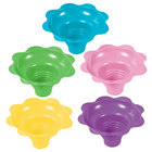 4 oz. Assorted Color Flower-Shaped Sno-Cone Cup - 600/Case