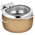 Eastern Tabletop 39811GRZ Jazz Rock 11 Qt. Copper Coated Stainless Steel Induction Soup Marmite with Hinged Glass Lid