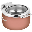 Eastern Tabletop 39811GCP Jazz Rock 11 Qt. Copper Coated Stainless Steel Induction Soup Marmite with Hinged Glass Lid