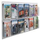 Aarco LRC117 60 inch x 25 inch Clear-Vu 12-Pocket Magazine Display