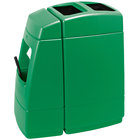 Commercial Zone 75813699 Islander Haven 1 55 Gallon Green Open Top Waste Container with Paper Towel Dispenser, Squeegee, and Windshield Wash Station
