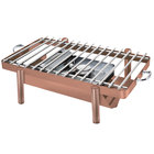 Eastern Tabletop 3256GCP Pillar'd 28 inch x 11 1/2 inch Copper Coated Stainless Steel Grill Stand with Removable Grill Top