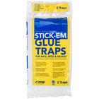 JT Eaton 111PRE Stick-Em Pre-Baited Rat & Mouse Glue Trap with Peanut Butter Scent   - 2/Pack