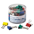 Officemate 31028 3/8 inch Capacity Assorted Color Small Binder Clips - 40/Pack