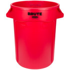 Rubbermaid FG264300RED BRUTE 44 Gallon Red Round Trash Can