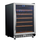Eurodib USF54S Single Section Single Temperature Full Glass Door Undercounter Wine Refrigerator