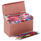Moon 8210 Assorted Treasure Woodcase Barrel HB Lead #2 Decorated Pencil   - 144/Box