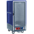 Metro C537-MFC-4-BU C5 3 Series Heated Holding and Proofing Cabinet with Clear Door - Blue