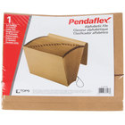 Pendaflex PFX K-17A-OX Letter Size 21-Pocket Expanding File - A-Z Indexed, Flap and Cord Closure, Brown