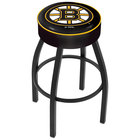 Holland Bar Stool L8B130BosBru Boston Bruins Single Ring Swivel Bar Stool with 4 inch Padded Seat